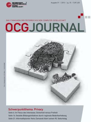 Cover: OCG Journal 1/2010