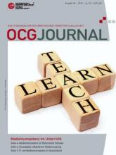 Cover: OCG Journal 4/2010