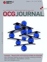 Cover: OCG Journal 1/2011